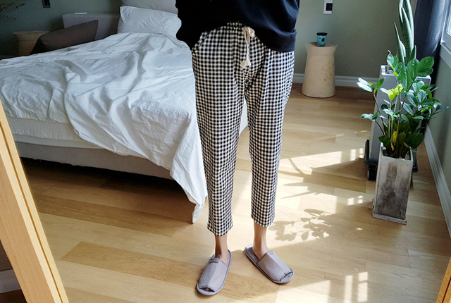 Gingham Check Bending Pants (6th stock)