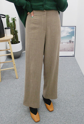 Linen Bending Wide Pants