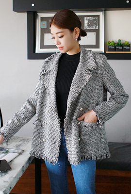 Pearl Surgical Tweed Jacket