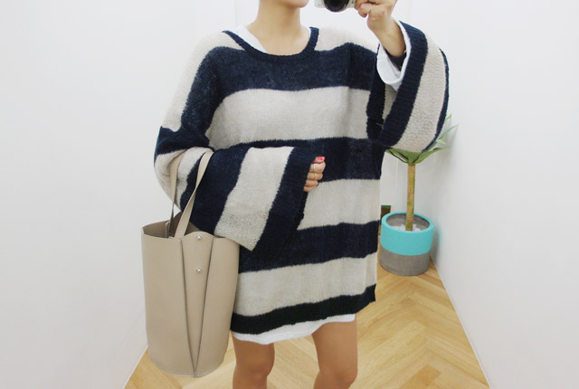 Djara loose wide knit tee