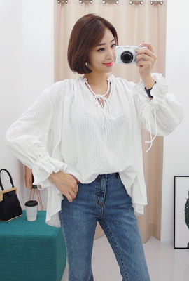 Double string shearing blouse