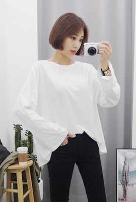 Basic color wide tee (second stock)
