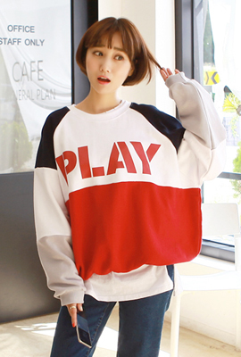 Play color man-to-man tee (7th stock)