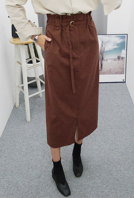 Pin tuck banding top long skirt (second stock)