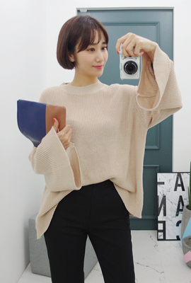 Basic wide knit tee