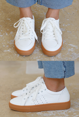 Real leather coloring sneakers