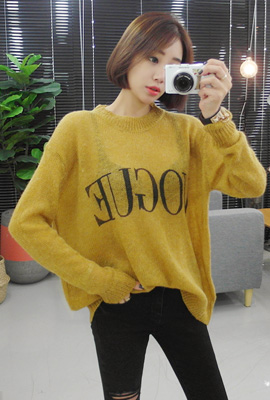 Vog Lettering Knit Tee (2nd stock)