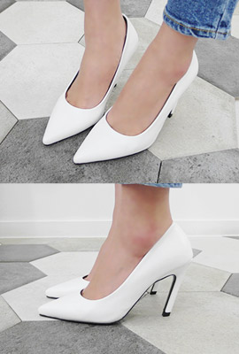 Stiletto leather high heels