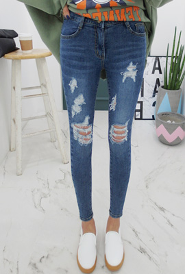 Double Big Damage Skinny Jean (2nd stock)