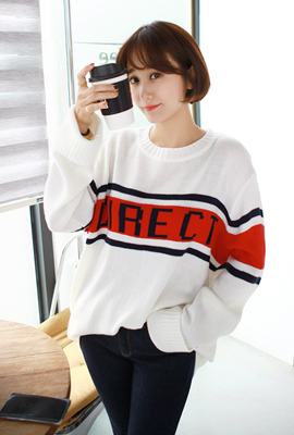 Direct color knit tee