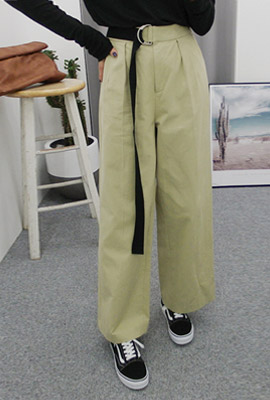 D ringtone strap wide pants
