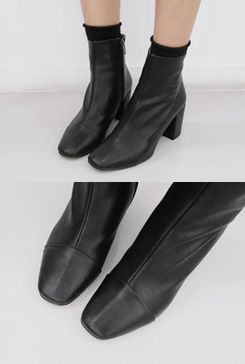 Real Leather Cut Ankle Boots