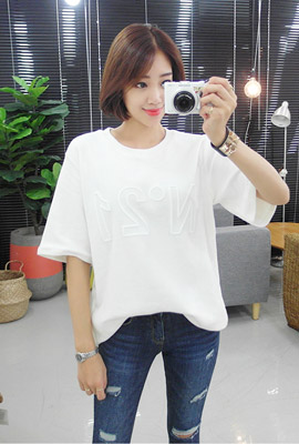 Embroidered Pitch Brushed Short Sleeve Tee