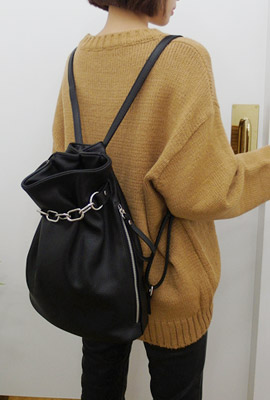 Leather Chain Abduction Backpack