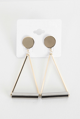 Mix Triangle Earring