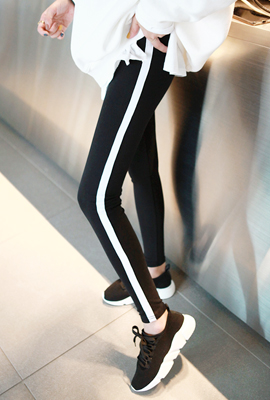 Colored taping span leggings (5th stock)