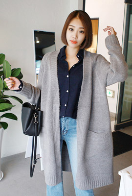 Long span shawl knit cardigan (second stock)