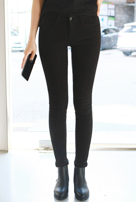 Normal Slim Brushed Skinny Pants
