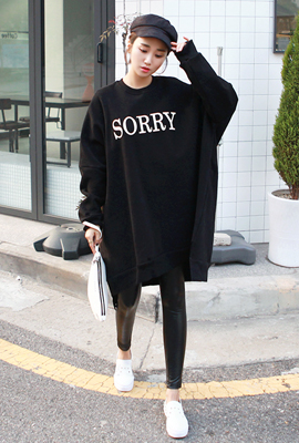 Sorry brushed man-to-man dress (2nd stock)