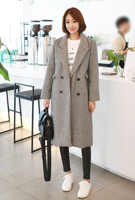 Swallow check long coat (second stock)