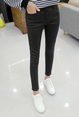 Normal brushed coated skinny pants (second stock)