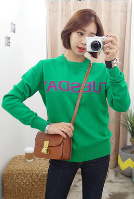 Wick coloring lettering knit tee (second stock)