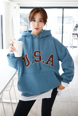 USA Stitch brushed hoodie (3rd stock)