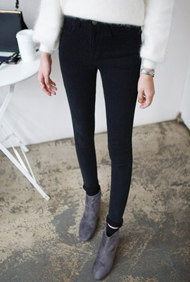 Pitch brushed skinny pants (second stock)