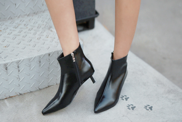Stiletto Leather Ankle Boots