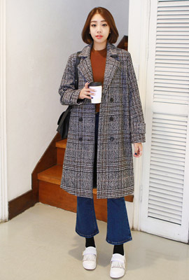 Double check cloth coat (second stock)
