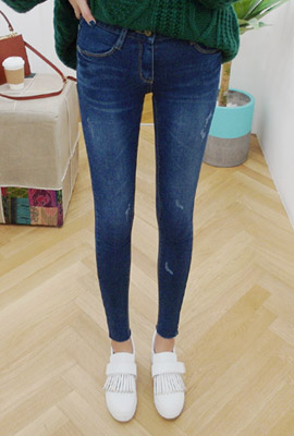 Natural hedge brushed skinny jeans (4th stock)