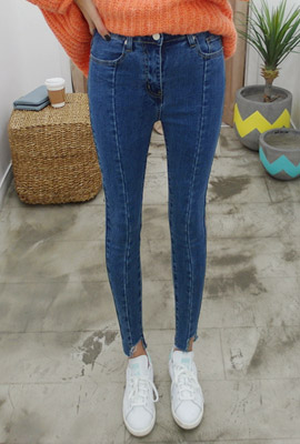 Cutting slim skinny jeans (second stock)