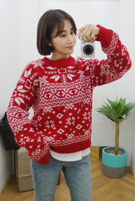 Snow coloring knit tee