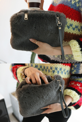 Soft fur mini bag (third stock)