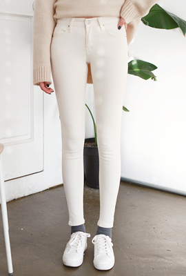 Modern brushed skinny pants (4th stock)