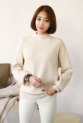 Simple half knit tee (38 car stock)