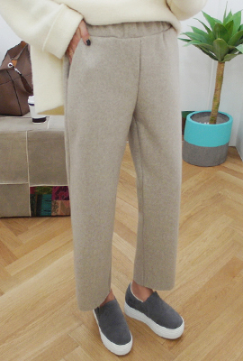 Wool bending wide pants (12th stock)