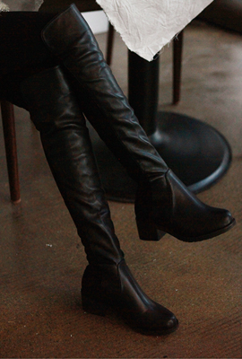 Leather & Half Long Boots