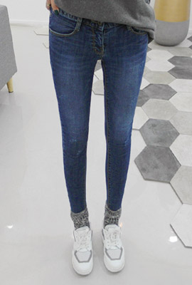 Daily Brushed Skinny Jeans (2nd stock)