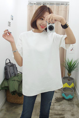 Daily plain short sleeve tee
