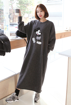 Mickey Round Long Dress (Disney genuine)