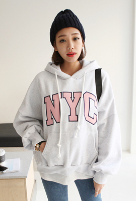 NYC Brushed Hooded Tee