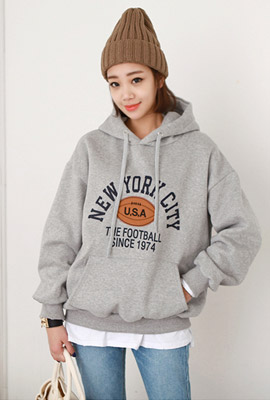 New York rugby brushed hoodie (3rd stock)