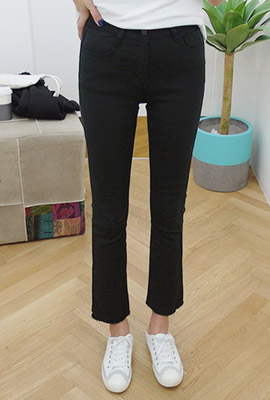 Daily slim boots cut pants (second stock)