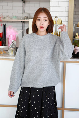 Simple round knit tee (6th stock)