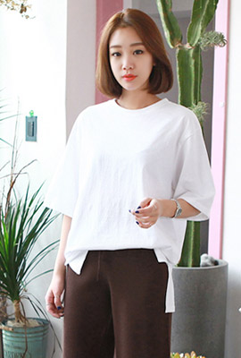 Side-to-side round short sleeves (second stock)