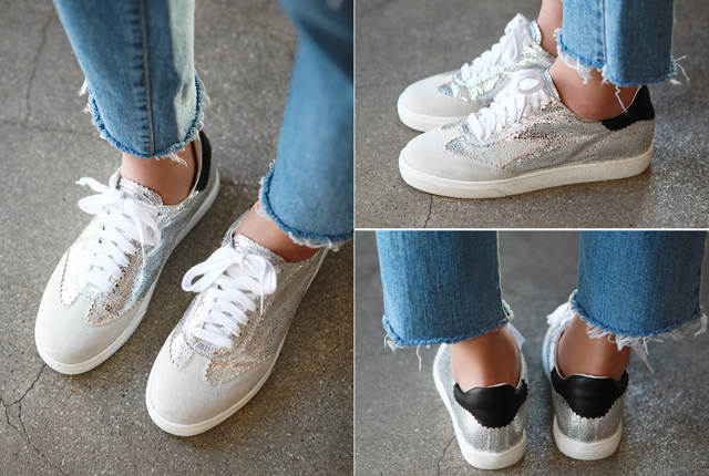 Shiny Leather Sneakers
