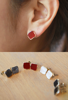 Acrylic Square Earrings