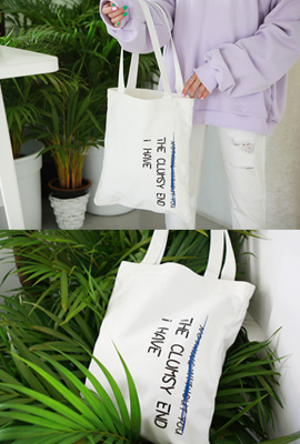 Daily English lettering eco bag