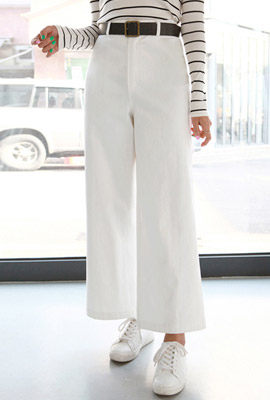 Fake wide pants set
